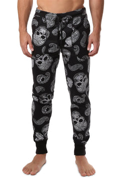The Bottom Line Paisley Skull Joggers