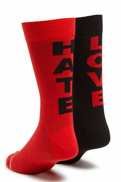 Diesel Black & Red Love/Hate Socks - CheapUndies.com