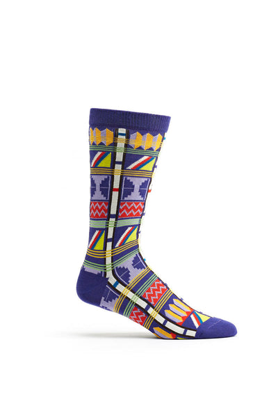 Ozone Violet Asonawo Elements Calf Sock