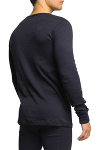 2(X)IST Black Essential Long Sleeve Henley