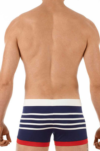 Gregg Homme Navy Ahoy Square Swim Trunk