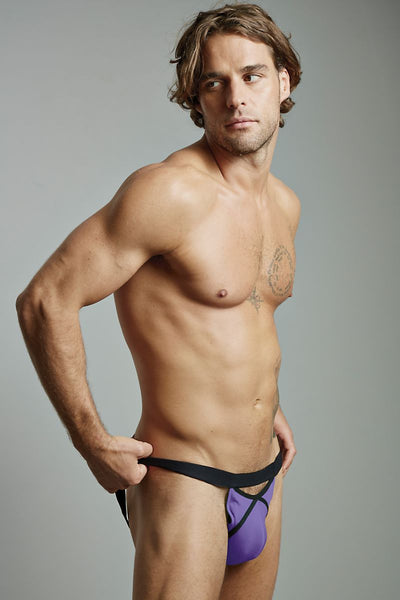 Extreme Collection Purple Linea Jockstrap - CheapUndies.com