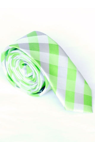 Skinny Tie Madness Riddle Me Green Tie