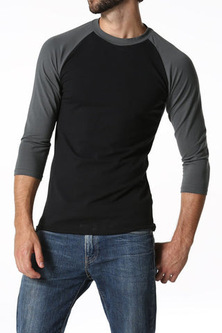 CheapUndies Charcoal & Black Raglan Shirt