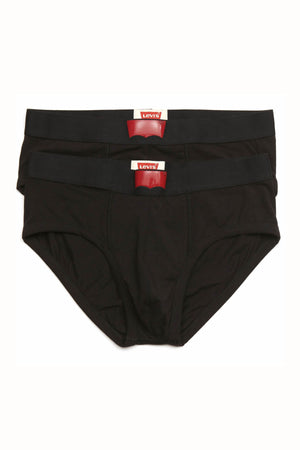 Levi's Black 200 Series Cotton-Stretch Brief 2-Pack