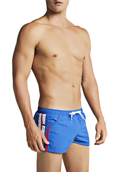 CheapUndies Blue Striped Runner Short