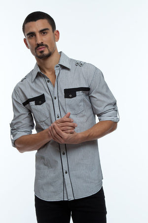 Young Republic White & Black Hayden Button-Up