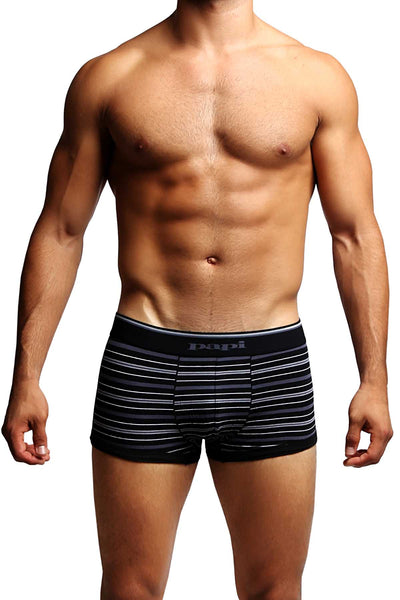 2-Pack Papi Grey Stripes Stretch Brazilian Trunks - CheapUndies.com
