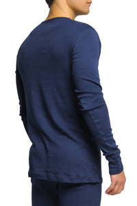 2(X)IST Navy Essential Long Sleeve Henley