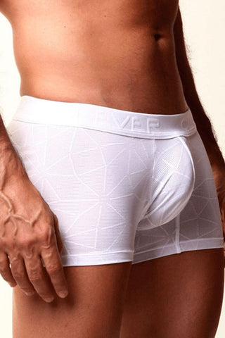 Clever White Mesh Geo Boxer Brief