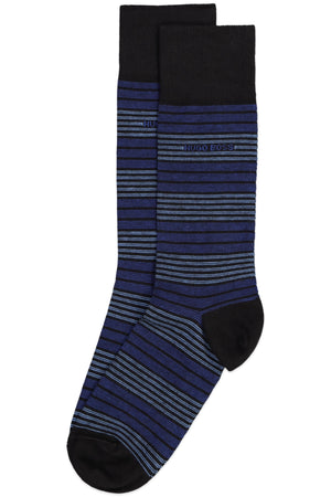 Hugo Boss Royal & Navy Stripe Combed Cotton Sock