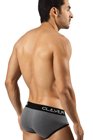 Clever Grey Basic Piping Brief