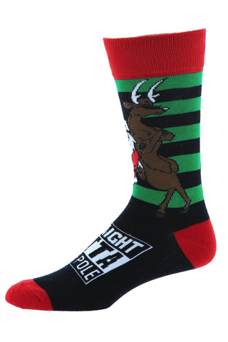 Bottoms Out Straight Outta North Pole Holiday Socks