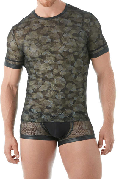 Gregg Homme Black Camo Mesh Shirt - CheapUndies.com