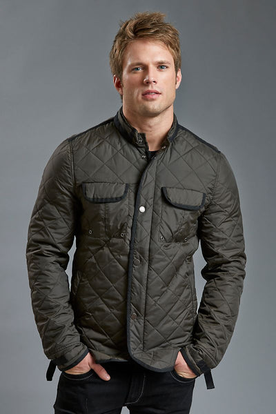 American Stitch Green Quilted Jacket - CheapUndies.com