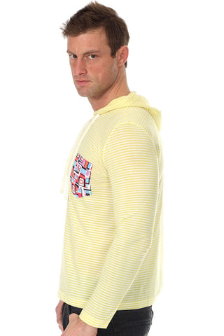 Do Nothing Yellow & White Picasso Pete Hoodie