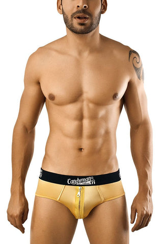 Candyman Gold Zipper Brief