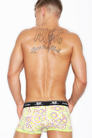 Freemen Yellow Printed Rings Boxer Brief