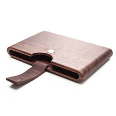 Something Strong Brown Walnut Wood Card Case With Lacquer