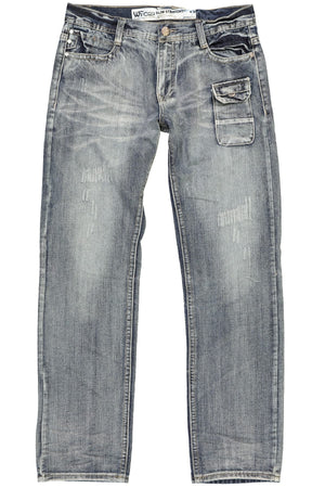WT02 Dark Sand Blue Slim Straight Michael Jean