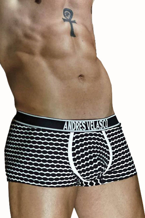Andres Velasco Black/White Dobby Trunk - CheapUndies.com