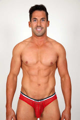 Pistol Pete Red Rally Mesh Brief