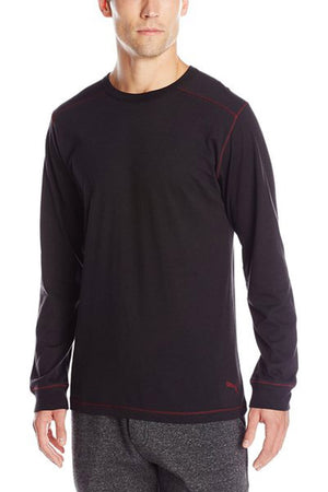Puma Black Long Sleeve Lounge Shirt