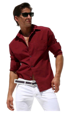 Rufskin WIne Revolver Button Up