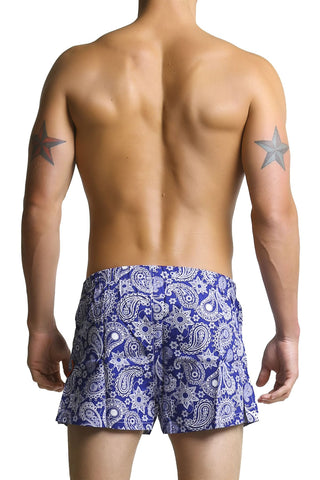 Mosmann Blue Paisley Relaxed Boxer