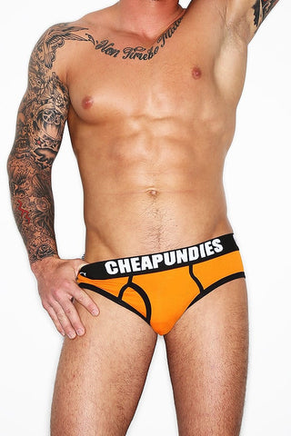 CheapUndies Orange Impact Fly Brief