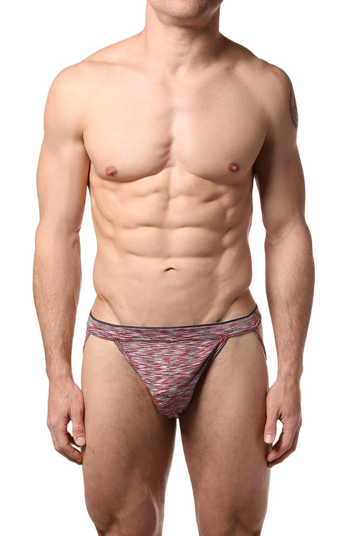 2(X)IST Salsa-Red/Space-Dye Sliq Micro Jockstrap - CheapUndies.com