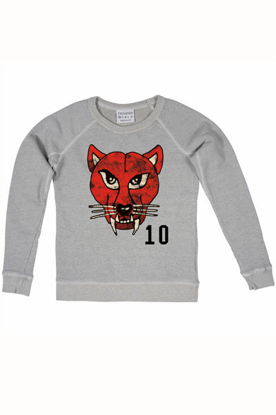 Rxmance Grey Cat Crew Sweatshirt - CheapUndies.com