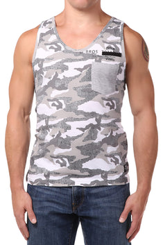 Datch Grey Camo Tank Top
