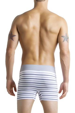 Knocker White & Grey Stripe Seamless Trunk