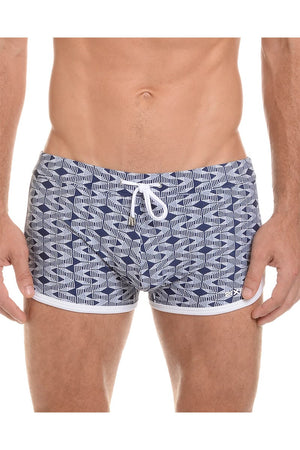 2(X)IST Estate Blue Geo Jogger Swim Trunk