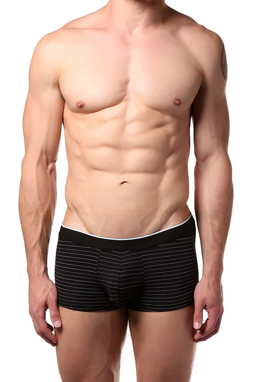 Doreanse Black/Pinstripe Athletic Hipster Trunk - CheapUndies.com
