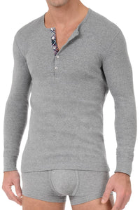 2(X)IST Grey Tartan Long Sleeve Henley