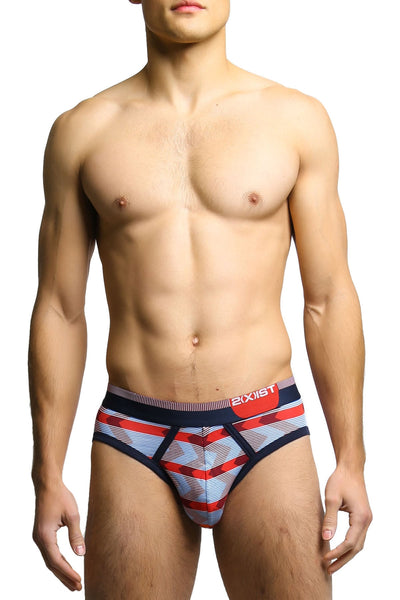 2(X)IST Zig Zag Stripe Red Graphic Cotton Briefs - CheapUndies.com