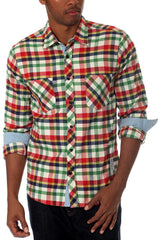 "Something Strong Red-Multi ""Something True"" Button Up"