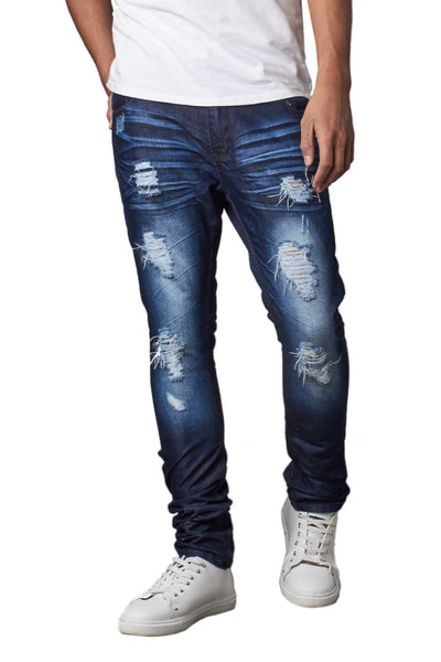 Recess Jeans & Design Slim Tapered Washed Denim Pants - CheapUndies.com