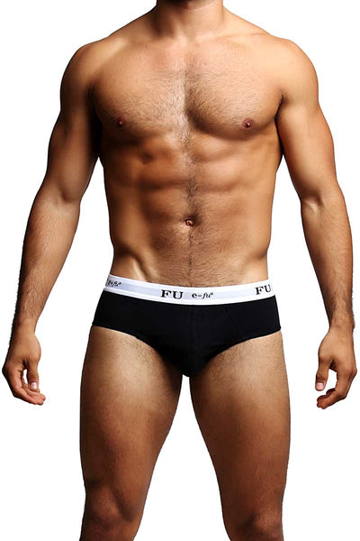 FU E=FU8 Black Pleasure Pouch Brief - CheapUndies.com