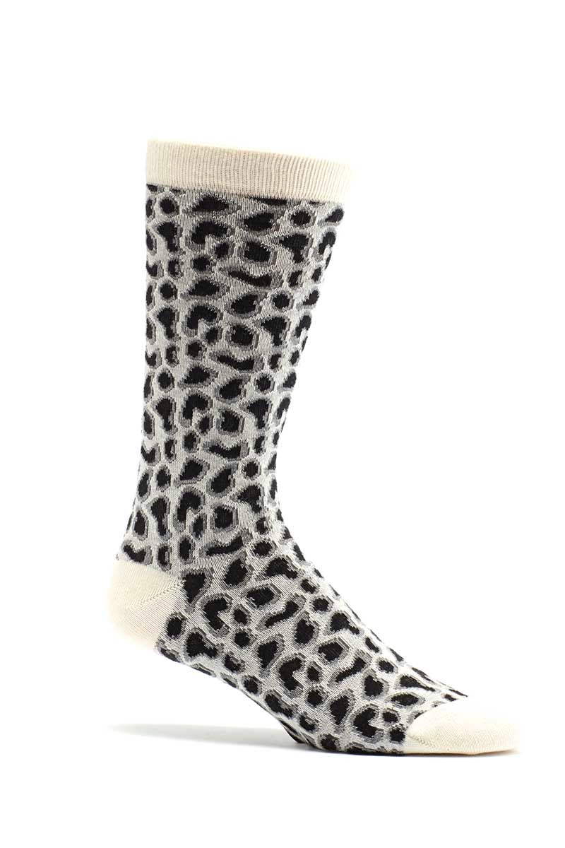 Ozone White Giraffe Calf Sock