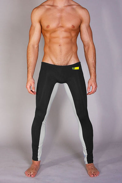 Timoteo Black & Silver Legging Pants
