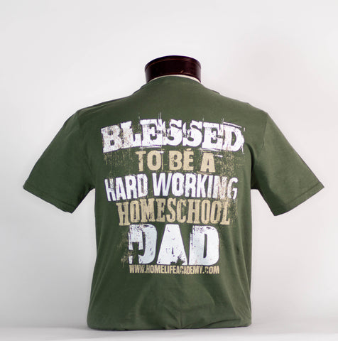 "Men's "" Blessed to be a.. Homeschool Dad"" Graphic Tee"