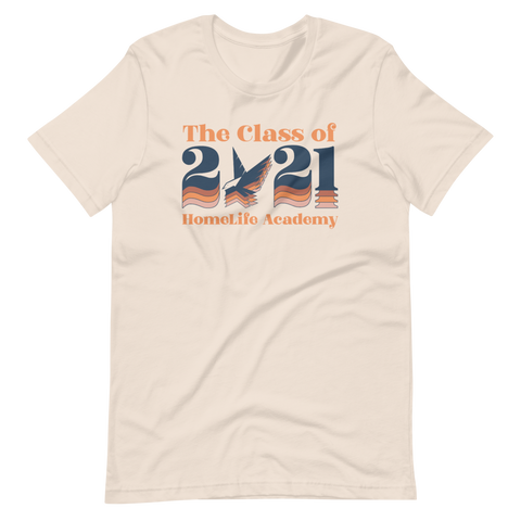 "Unisex ""The Class of 2021"" Soft Cream with Navy Graphic Tee"