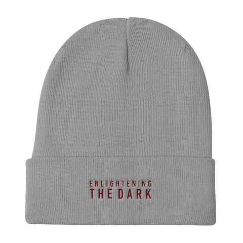 "BES x ETD ""Enlightening the Dark"" Gray Knit Beanie"