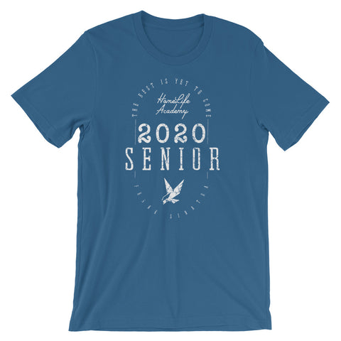 "Unisex ""The Best is Yet to Come Senior 2020"" Steel Blue Graphic Tee"