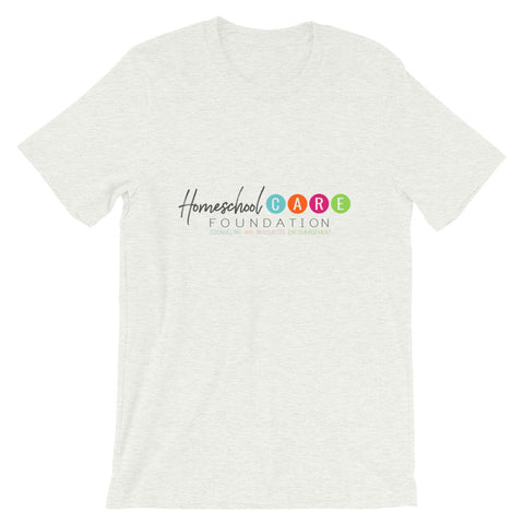 "BES x HCF ""Homeschool CARE Foundation"" Gray Graphic Tee"