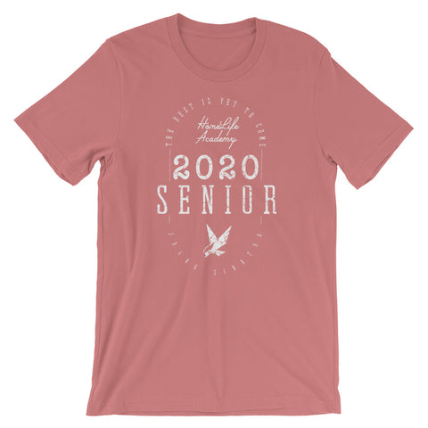 "Unisex ""The Best is Yet to Come Senior 2020"" Mauve Graphic Tee"
