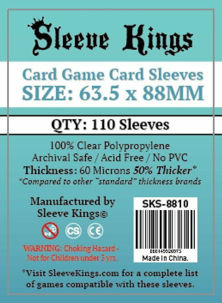 Sleeve Kings - size 63.5 x 88mm (SKS8810)